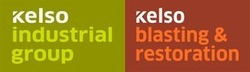 Kelso Industrial Group and Kelso Blasting & Restoration logos
